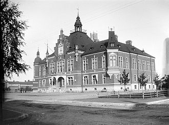 Umeå Town Hall - A photo of Umeå Town Hall in 1902
