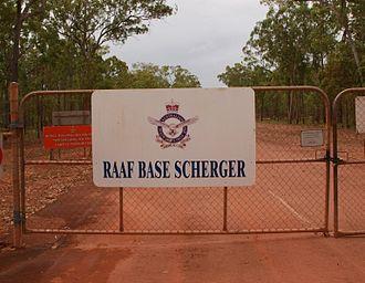 RAAF Base Scherger - Gate to RAAF Scherger