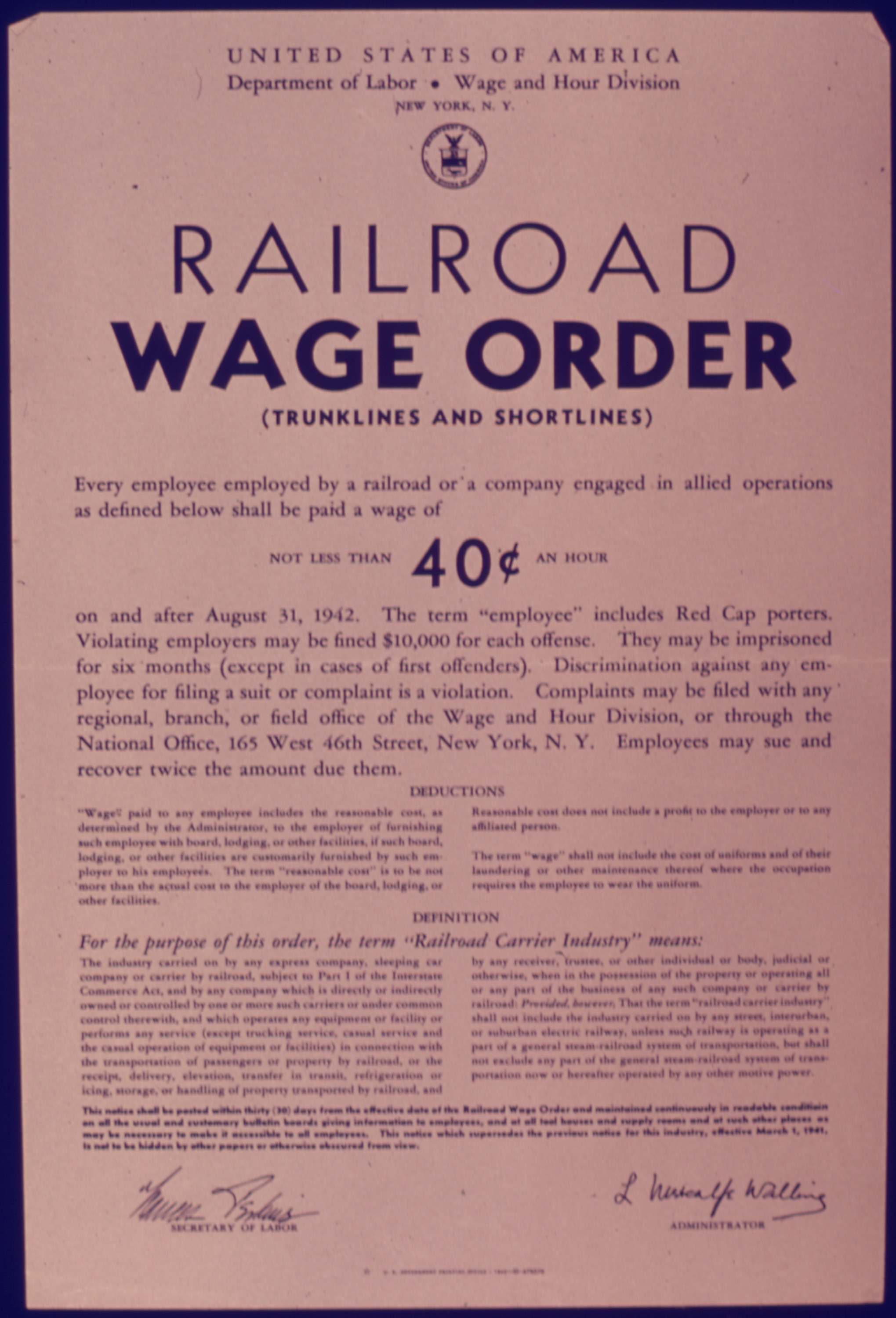 file railroad wage order nara wikimedia commons. Black Bedroom Furniture Sets. Home Design Ideas