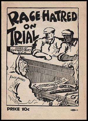 Ryan Walker (cartoonist) - Walker contributed cover art to this 1931 Communist Party political pamphlet, Race Hatred on Trial.
