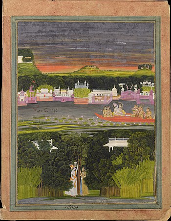 Radha and Krishna in the boat of love - Google Art Project.jpg