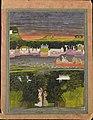 Radha and Krishna in the boat of love - Google Art Project.jpg
