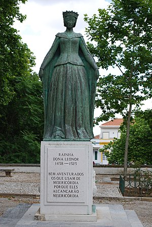 Eleanor of Viseu - Queen Eleanor of Portugal statue in Beja.