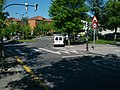 Raised crosswalk with 30 km hr limit at traffic circle (18805864442).jpg