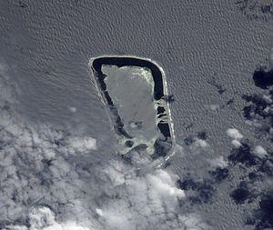 Satellitenfoto von Rakahanga