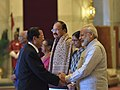 Ram Nath Kovind, the Vice President, Shri M. Venkaiah Naidu and the Prime Minister, Shri Narendra Modi meeting the Prime Minister of the Kingdom of Cambodia, Mr. Samdech Akka Moha Sena Padei Techo Hun Sen.jpg