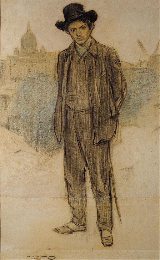 Ramon Casas - Portrait of Pablo Picasso - Google Art Project