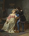 Raphael Adjusts Fornarina's Hair before Painting Her Portrait by Marie-Philippe Coupin de la Couperie.jpg