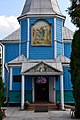 Ratne Volynska-Church of Christmas of the mother of God-central entrance.jpg