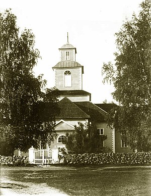Sosnovo, Priozersky District, Leningrad Oblast - The old Lutheran church of Rautu destroyed in the Finnish Civil War in 1918. Photo taken in 1913.