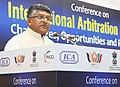 "Ravi Shankar Prasad addressing at the inauguration of the Conference on ""International Arbitration in BRICS Challenges, Opportunities and Road ahead"", in New Delhi.jpg"