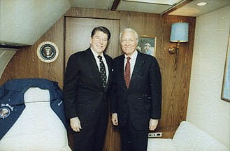 Robert D. Orr - Orr with President Ronald Reagan in 1982