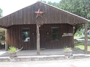 Real County, Texas - The Real County Historical Museum is located in a rustic building in Leakey.