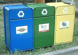 Recycling bins at Timisoara, Romania