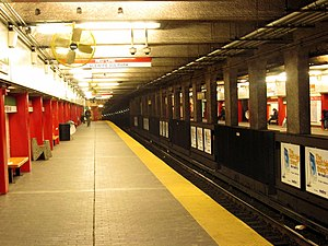 "Downtown Crossing (MBTA station) - Red Line platforms (formerly ""Washington"") at Downtown Crossing"