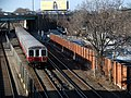 Red Line train and Tenean Yard, January 2016.JPG