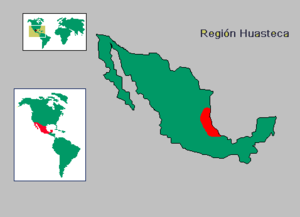 La Huasteca - Map of La Huasteca in Mexico.
