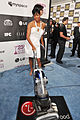 Regina King with the LG Electronics Kompressor Vacuum on 25th Spirit Awards Blue Carpet held at Nokia Theatre L.A. Live on March 5, 2010 in LA.jpg