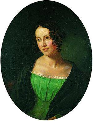 Regine Olsen - Regine Olsen in 1840, (painted by Emil Bærentzen)