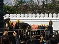 Rehearsal of the royal funeral procession for Rama IX - royal horse (01).jpg