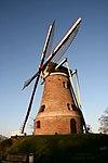 foto van De Piepermolen, stenen windkorenmolen