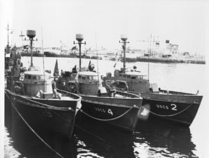 History of the United States Coast Guard - A number of the 60 cutters based in Poole as part of Rescue Flotilla One.