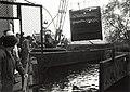 Restauratie van de sluisdeuren van het Stoomgemaal. Aangekocht van United Photos de Boer. - Negatiefnummer 35203 k 31 a. - Gepubliceerd in het Haarlems Dagblad van 10.10.1991. Identificatienummer 54-0.JPG