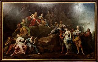 Orphée descendu aux Enfers pour demander Eurydice