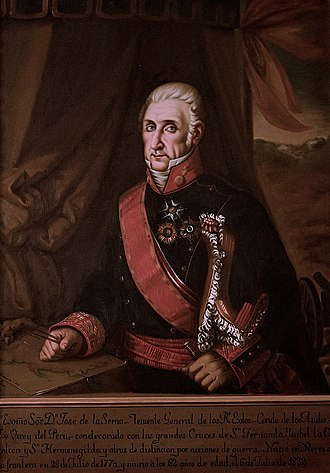 Battle of Ayacucho - Last Viceroy of Perú, José de la Serna e Hinojosa, Count of the Andes.