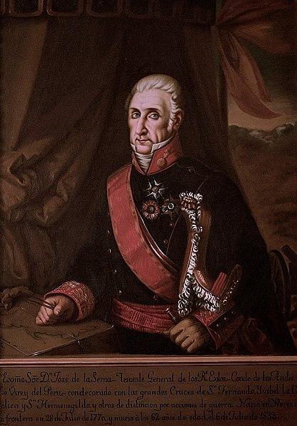 Retrato de José de la Serna e Hinojosa.