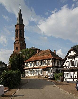 Rheinau (Baden) - Rheinau-Rheinbischofsheim, protestant church