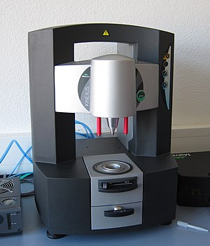 Rheometer - A rotational rheometer in use in a research laboratory