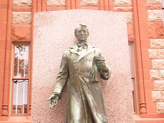Richard Ellis (politician) - Richard Ellis statue at Ellis County Courthouse in Waxahachie, Texas