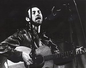 Richard Thompson (musician) - Thompson performing solo on stage at the Leeds Folk Festival, 1982