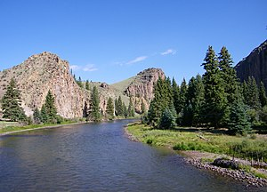 Mineral County, Colorado - Rio Grande below Creede, Mineral County