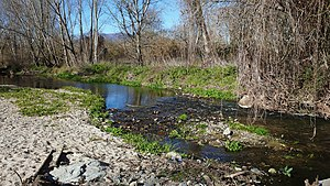 77th Division (Spain) - The Tordera River close to Sant Celoni where the 77th Division sought to establish a last line of resistance in an eleventh-hour, desperate effort to halt the enemy.