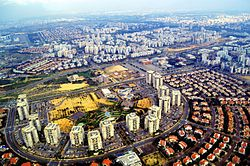 Rishon LeZion from the air
