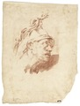 Ritstudie på man, 1700-tal - Skoklosters slott - 99199.tif