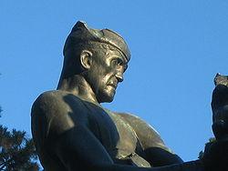 River Driver Statue