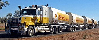 Truck - A road train in Australia