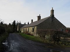 Roadside cottages at Bradford (geograph 4344549).jpg
