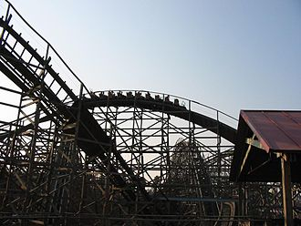 Six Flags Discovery Kingdom - Roar Wooden Roller Coaster