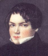 Robert Schumann 1830, anonyme Miniatur auf Elfenbein (Ausschnitt) (Quelle: Wikimedia)
