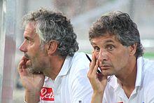 Donadoni nell'estate 2009, insieme al vice Mario Bortolazzi.