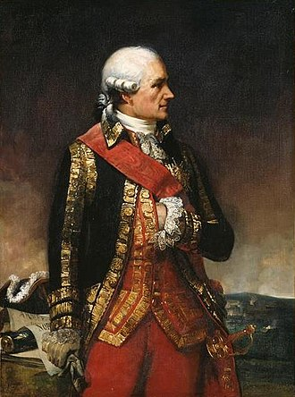 Jean-Baptiste Donatien de Vimeur, comte de Rochambeau - Rochambeau wearing the sash of the Order of Saint Louis