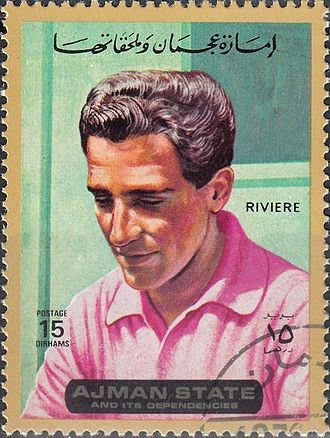 Roger Rivière - Rivière on a 1972 UAE stamp
