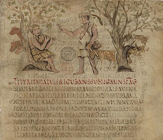 first eclogue of vrigil Scholars assert that vergil portrays tityrus as a slave in eclogue 1 and that the   virgil refers to tityrus' libertas and servitium in the context of tityrus'  then,  clarifies for the reader what tityrus meant when he first used libertas at line 27.