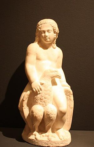 Catamite - Roman Ganymede as a puer delicatus, with the eagle of Jove
