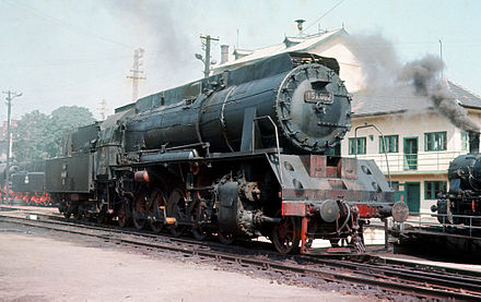 The Malaxa Prime, a Romanian-made steel-wrought locomotive Romania CFR 151.002 2-10-2.JPG