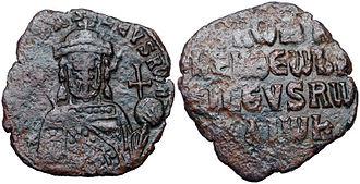 Theophanes (chamberlain) - Bronze follis of Emperor Romanos I Lekapenos (r. 920–944).